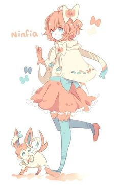 Gijinka Human Version Pokemon Ninfia Sylveon Amazing Discounts Your Source fo… Gijinka Human Version Pokemon Ninfia Sylveon Amazing Discounts Your Source for Video Games, Consoles & Accessories! Pokemon Eevee, Gif Pokemon, Pokemon Human Form, Pokemon People, Eevee Evolutions, Anime Chibi, Kawaii Anime, Manga Anime, Anime Art
