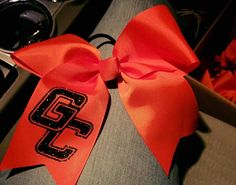 Cheer bows for #georgetowncollege by Suzy