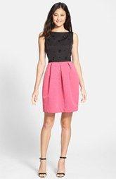 Eliza J Embellished Colorblock Sheath Dress (Regular & Petite)