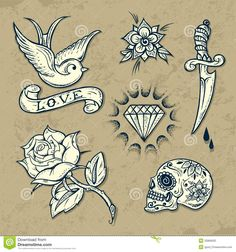 old school tattoos - Google Search