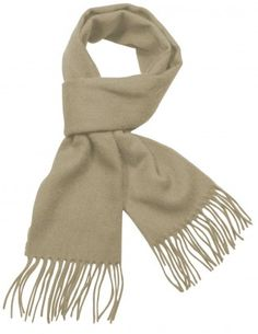 Men's Winter Wool Blend Scarf - Classic Solid Color
