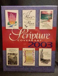 Scripture Cover Art 2003 PC CD-ROM Bulletin Covers Christian Graphics Customize #CommunicationResourcesInc