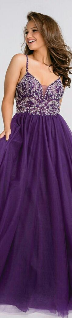 JOVANI ▪Deep Purple Chiffon Prom Dress w. Beaded Halter Top ▪#47548