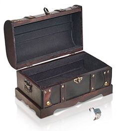 Pirate Treasure Chest Storage Box By Thunderdog   Durable Wood U0026 Metal  Construction   Unique,