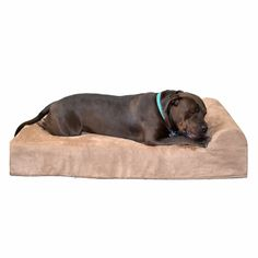 This dog bed is for big dogs who need extra joint-support. Seven inches of top grade orthopedic American foam make for a stylish and unrivaled sleep experience.