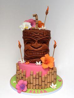 Pink Tiki Cake