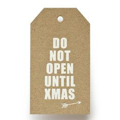 Do Not Open Gift Tags, $17, now featured on Fab.