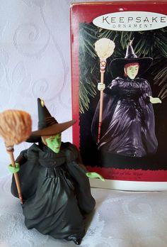 The Wizard Of Oz Hallmark Keepsake Ornament Wicked Witch of the West 1996 #Hallmark #Ornament #WizardofOz