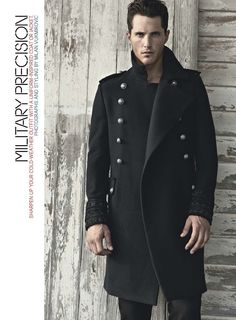 ♂ masculine and elegance men's fashion winter apparel military inspired coat