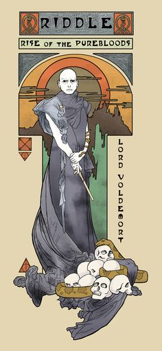 Art Nouveau Voldemort   I'm not one to geek out, but this makes me happy