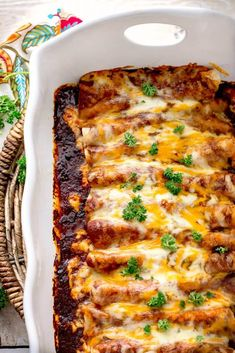 Chicken Enchiladas with Homemade Red Enchilada Sauce is packed full of layers of delicious flavor. From the homemade red enchilada sauce to cooking the chicken in broth with tomatoes,garlic. This is one fantastic recipe! Homemade Enchilada Sauce, Homemade Enchiladas, Red Enchilada Sauce, Enchilada Recipes, Enchilada Soup, Homemade Sauce, Tostadas, Tacos, Mexican Dishes