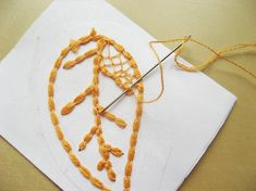 Needle Lace Skeleton Leaves - How Did You Make This? | Luxe DIY