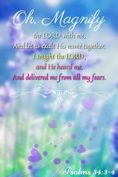 Psalm 34:3-4