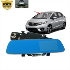 69.14$  Watch now - http://alizbl.worldwells.pw/go.php?t=32713769652 - For honda fit hrv jazz city Car DVR Blue Screen Rearview Mirror Driving Recorder HD 1080P Car Dual Camera 5 INCH Car parking DVR 69.14$