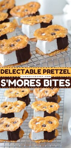 S'mores and camping are nearly synonymous. But who says you cannot make s'mores indoors? These pretzel s'mores bites are a fun twist to a classic camping finger food. They are sweet, delicious, and very easy to make! Easy Family Meals, Quick Easy Meals, Family Recipes, No Bake Desserts, Dessert Recipes, Homemade Marshmallows, Food For A Crowd, Everyday Food, Pretzel