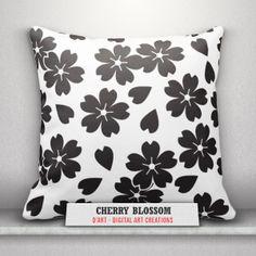 #Black and #white #pillows set... #blackandwhite #blackandwhitepillows #cushion #throwpillows #pillows #flowers #cherryblossoms #shapes #leaves #flowersshapes #leavesshapes #zazzler #zazzle #zazzleshop #digitalartcreations