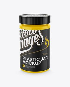 Plastic Jar With Screw Cap Mockup - High-Angle Shot (Preview)