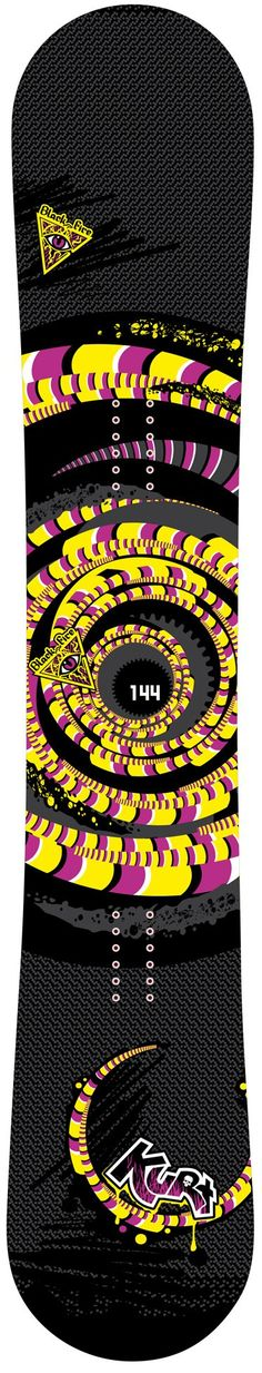 150cm Black Fire Kurt Spiral Rocker Snowboard -- Awesome products selected by Anna Churchill