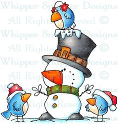 Mini Me's Peeps - Snowmen Images - Snowmen - Rubber Stamps - Shop