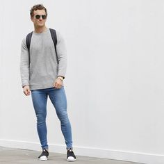 Spray On Jeans, How To Look Skinnier, Lined Jeans, Urban Street Style, Light Blue Jeans, London, Skin Tight, Super Skinny Jeans, Sexy Men