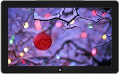 Rote Kugel an einem Zweig