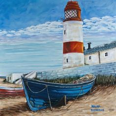 Image result for beginners paintings of boats and the sea