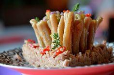 """Primo """"Anemone"""" al farro con pesto di fagiolini e pistacchi"""