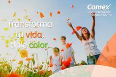 Transforma tu vida con un toque de color.  #ComexPinturerías #Decoración #MundoDeColor