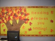 I liked this bulletin board in particular because it uses the children's hand prints. I also like the use of color and the saying. This website has several different bulletin board ideas.