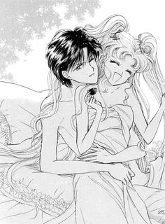 Sailor Moon and Tuxedo Mask, Serena and Darien, Usagi and Mamoru