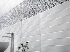 Décor mur uni blanc mat x cm, Hawai tressé - Bathroom Ideas Bathroom Tile Designs, Bathroom Layout, Bathroom Interior, Interior Design Living Room, Modern Bathroom, Small Bathroom, Master Bathroom, Dream Bathrooms, Bathroom Renovations