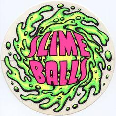 Santa Cruz Speed Wheels Slime Balls Sticker