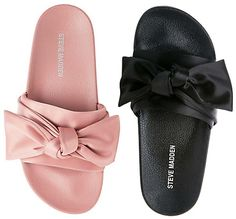 "Steve Madden ""Silky"" Bow Slide Sandals: http://amzn.to/2oUsxMk 