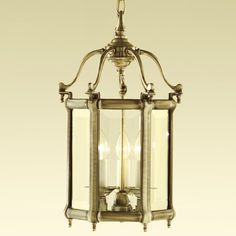 Chelsom Georgian Lanterns GL/745/3/EA Solid cast brass, clear bevelled glass (frosted glass on request) Finishes Glass panels slide out at the top for cleaning and maintenance. Halogen lamps recommended.