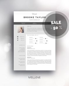 Resume Template 3 page / CV Template Cover Letter / Instant
