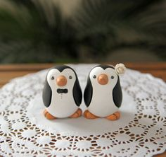 Penguin Wedding Cake Topper - Small, via Etsy...i would just keep these in my home