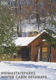 Pine Lake State Park and 8 other great winter cabin getaways in Iowa State Parks - Travel USA - Exploration America Weekend Trips, Weekend Getaways, Vacation Trips, Winter Getaways, Vacation Ideas, State Parks, Iowa State, State Park Cabins, Cabin Fireplace