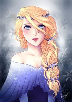 "monica-rysik-art: "" I made my own interpretation of Elsa ^^ """