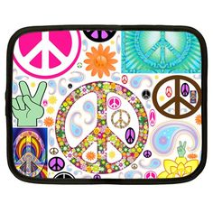 Peace+Collage+Netbook+Sleeve+(XL)+Netbook+Case+(XL)