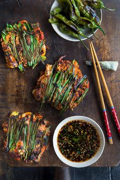 Wild Greens and Sardines : Mini [Baby Bok Choy] Kimchi Pancakes - YUMMM
