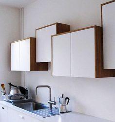 """nice kitchen """"Off-Kilter Cabinets"""" #idea"""