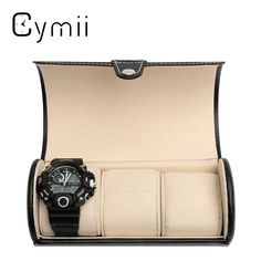 Cheap watch travel case, Buy Quality watch travel case leather directly from China watch storage Suppliers: Black 3 Slot Cylindrical Watch Travel Case Leather Roll Jewelry Watch Storage Holder Watchbox Case Collector Organizer Fossil Watches For Men, Cute Watches, Watch Travel Case, Watch Case, Leather Roll, Leather Case, Vintage Rolex, Vintage Watches, Watch Storage