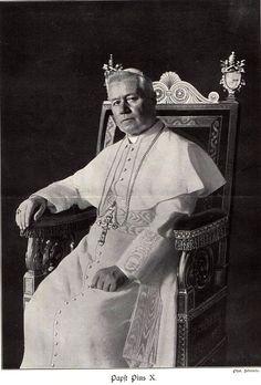 * Papa Pio X * (257º Papa). Nome: Giuseppe Melchiorre Sarto. (* Riese, 02/Junho/1835 - Roma, 20/Agosto/1914).