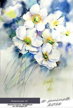 2016 - fillesansnoms Webseite! Abstract Flowers, Watercolor Flowers, Watercolor Negative Painting, Art Courses, Watercolour Tutorials, White Flowers, Flower Art, Drawings, Watercolors