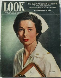 Look Magazine cover, October 20,  1942, US Army Nurse