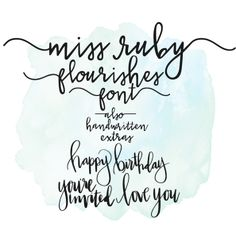 NEW RELEASE  Miss Ruby Font  http://www.misskatecuttables.com/products/product/miss-ruby-font.php