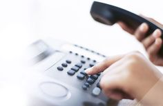 Business user dialing phone