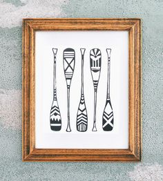 Canoe Paddles Print by Coffee in Bed available at Withal now. The place to get inspired goods by local makers. Canoe And Kayak, Canoe Paddles, Applique Patterns, Print Patterns, Harmony Art, Coffee In Bed, Outrigger Canoe, Creative Industries, Linocut Prints