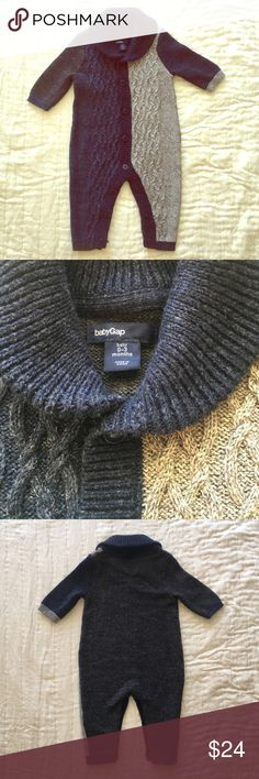 Baby Gap Sweater Romper 0-3M NWOT Perfect for fall! Baby Gap Sweaters