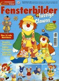 Creativ Idee Sonderheft Fensterbilder lustige Clowns